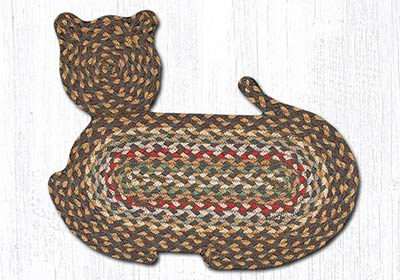 Fir and Ivory Braided Cat Rug