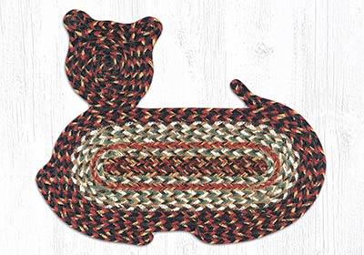 Terra Cotta Braided Cat Rug