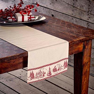 Cabin Christmas 36 inch Table Runner