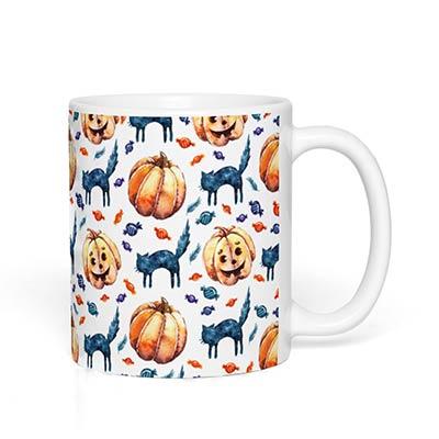 Cats & Jacks Halloween Mug