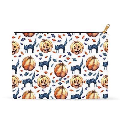 Cats & Jacks Halloween Zipper Pouch