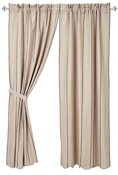Charlotte Slate Curtain Panels (84 inch)