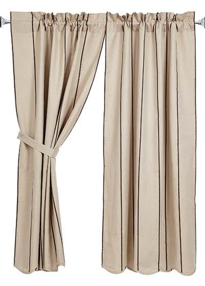 Charlotte Slate 63 inch Curtain Panels