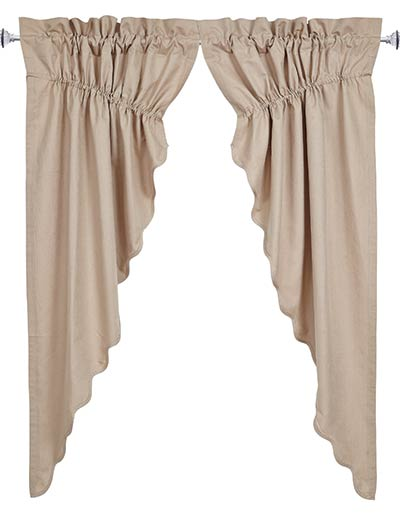 Charlotte Solid Natural Prairie Curtain (63 inch)