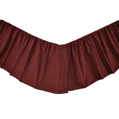 Cheyenne American Red Bed Skirt - King