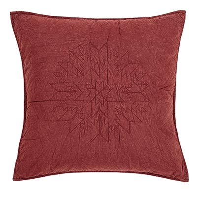 Cheyenne American Red Sham - Euro (Quilted)