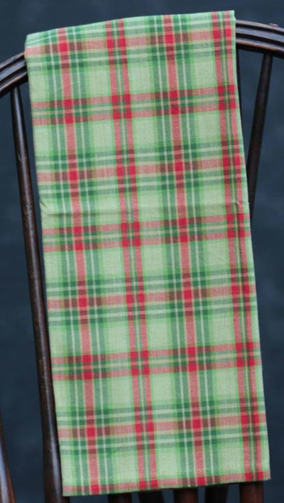 Christmas Tree Plaid Dishtowel