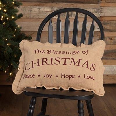 Christmas Blessings Pillow (14x22)