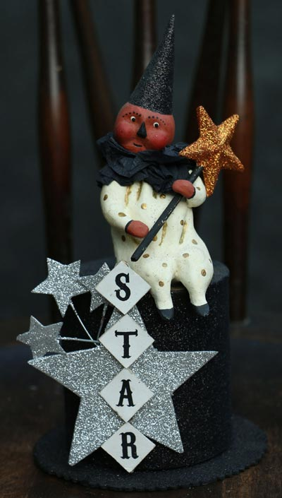 Star Clown on Top Hat Container