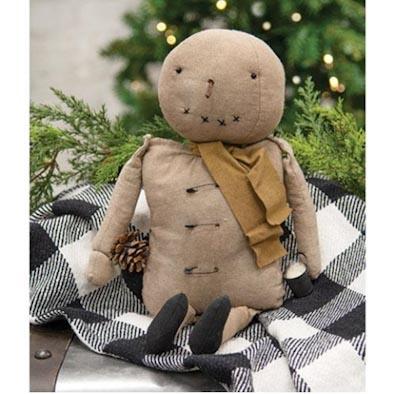 Smilin' Sam Primitive Snowman Doll