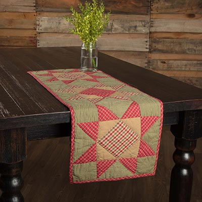 Dolly Star Quilted 36 inch Table Runner