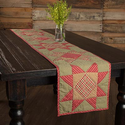 Dolly Star Quilted 90 inch Table Runner