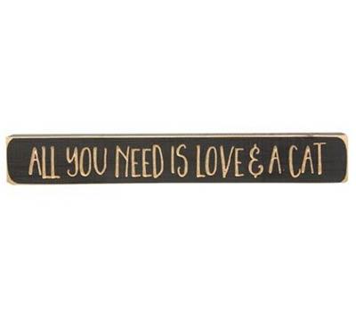 Love and a Cat Shelf Sitter