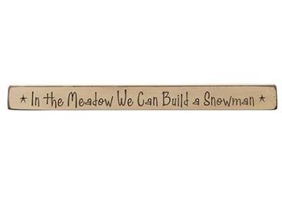 We Can Build A Snowman Shelf Sitter
