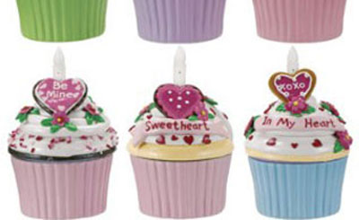 Sweetheart Blow-out Cupcake Trinket Box