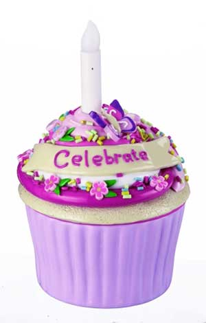 Celebrate Blow-out Cupcake Trinket Box