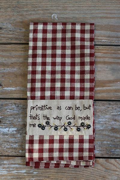 Primitive As Can Be Dishtowel