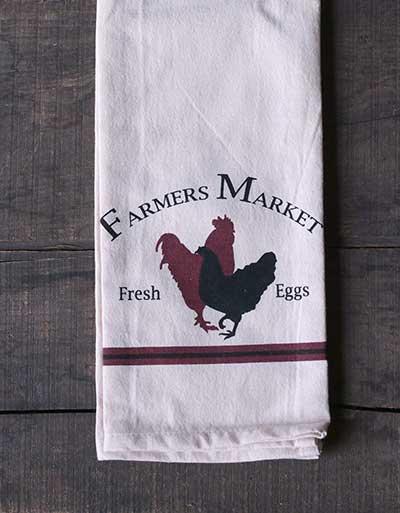 Farmer's Market Rooster Dishtowel