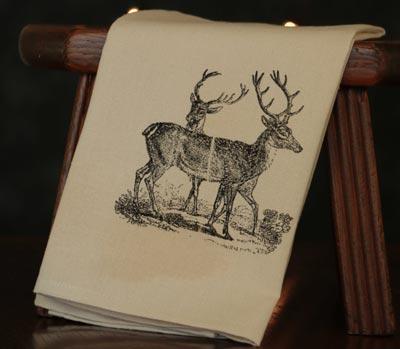 Two Deer Towel