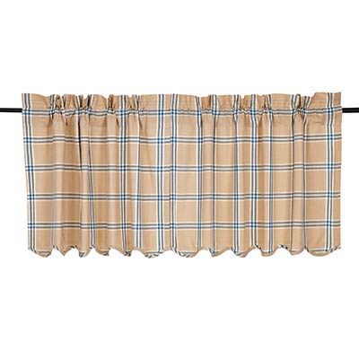 Elaine Azure Cafe Curtains - 24 inch Tiers