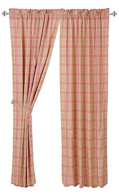 Elaine Rouge Curtain Panels (84 inch)