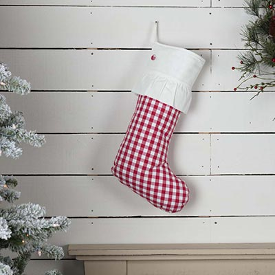 Emmie Red Check 20 inch Stocking