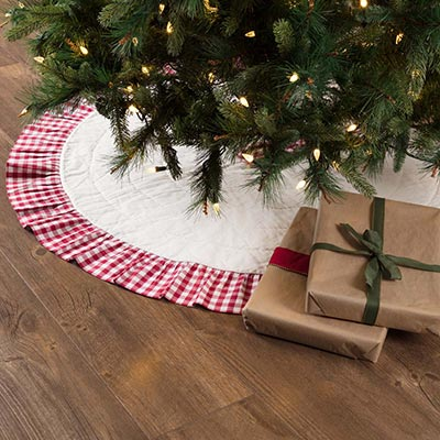 Emmie Red Ruffled 48 inch Tree Skirt