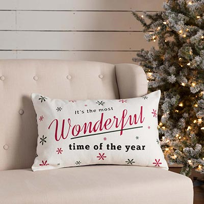 Emmie Wonderful Time Pillow (14x22)