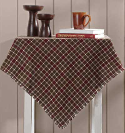 Everson Burlap Tablecloth, 60 x 60 inch
