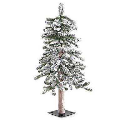 Flocked Alpine Christmas Tree - 3 foot