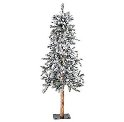 Flocked Alpine Christmas Tree - 5 foot