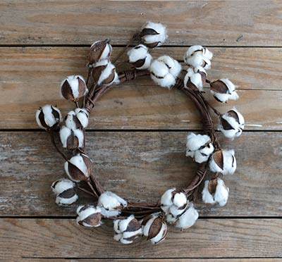 Cotton Ball 12 inch Wreath