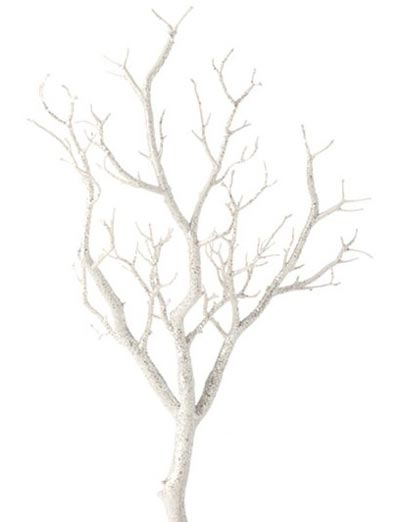 White Glittered Branch