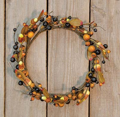 Primitive Candy Corn Wreath/Candle Ring (12 inch)