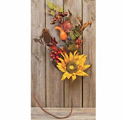 Harvest Sunflower Branch