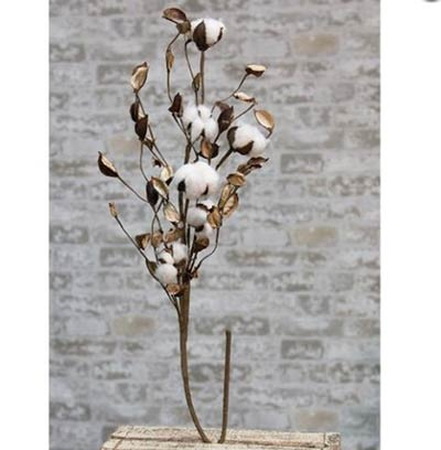 Cotton Ball 30 inch Branch with Shells