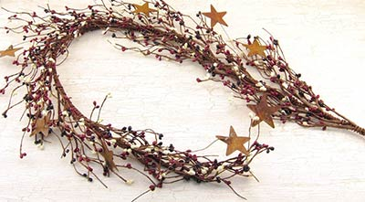 Patriotic Star Pip Berry Garland (40 inch)