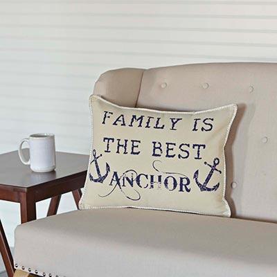 Family Anchor Pillow (14x18)