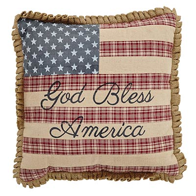Flag Pillow - God Bless America