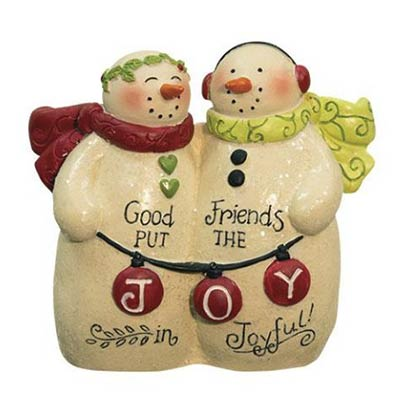 Good Friends Snowman Figurine