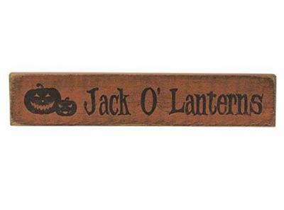 Jack o'Lanterns Wood Sign