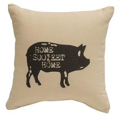 Home Sooieet Home Pig Throw Pillow