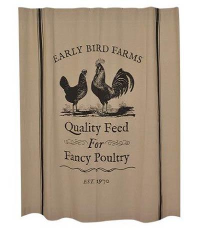 Early Bird Farms Shower Curtain