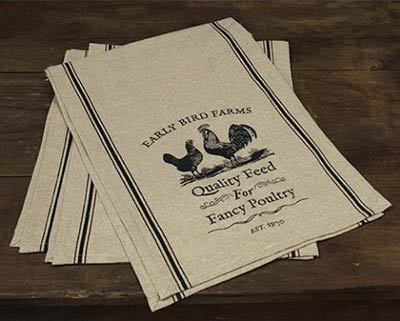 Early Bird Farms 48 inch Table Runner