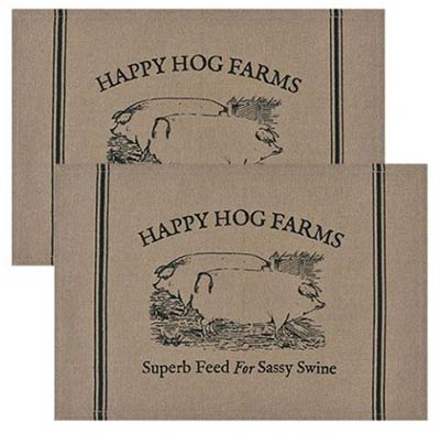 Happy Hog Farms Placemats (Set of 2)