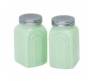Retro Jade Salt and Pepper Shaker Set