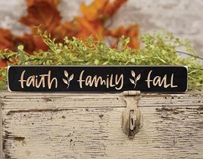 Faith Family Fall Shelf Sitter