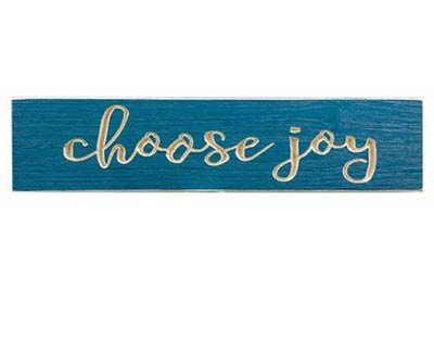 Choose Joy Engraved Sign