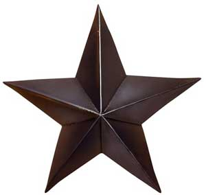 Black Barn Star, 4 inch