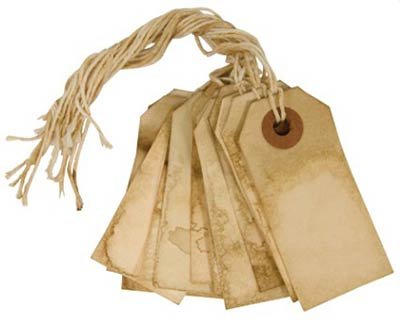 4.75 inch Tea Stained Gift Tags (Pack of 6)